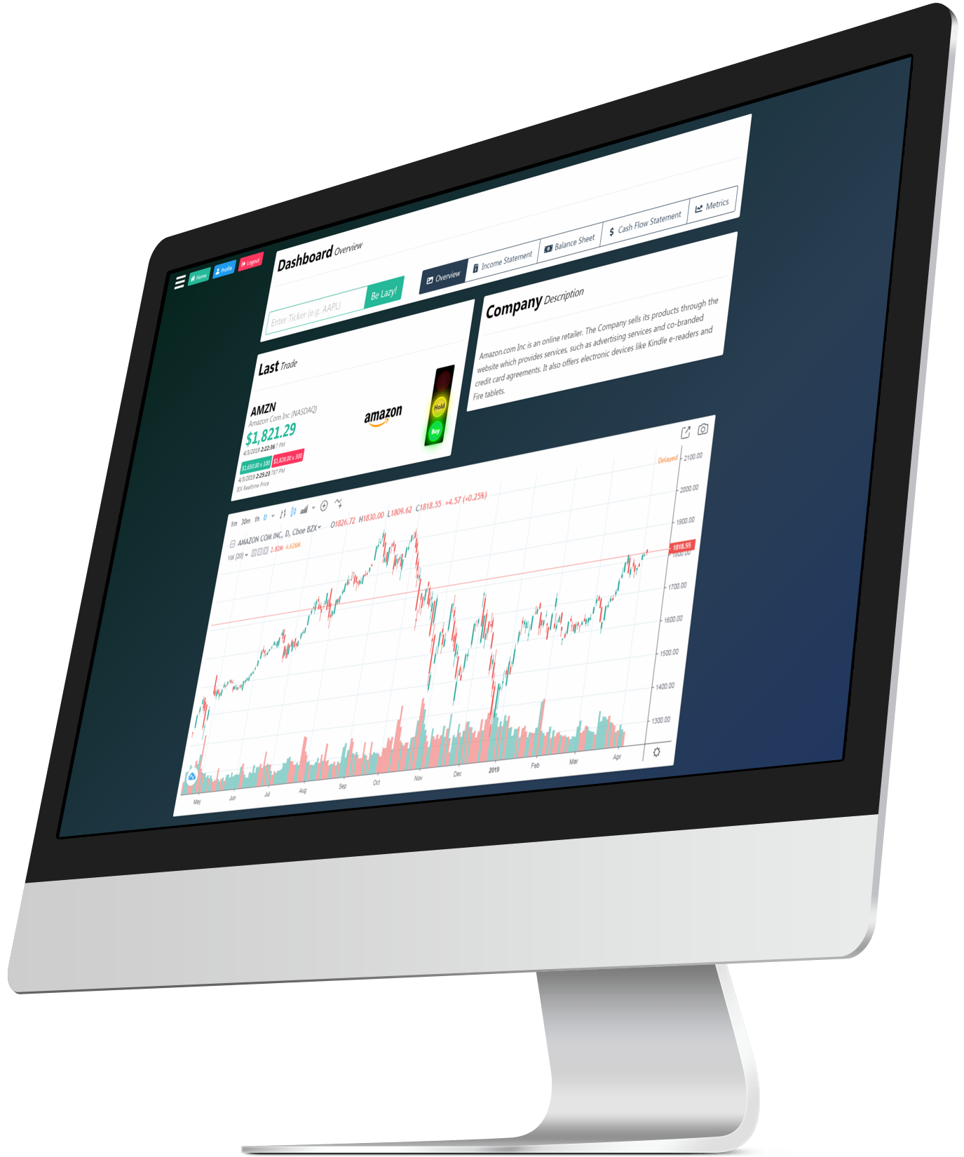 LazyFA - Stock Market Research Tools for Mac